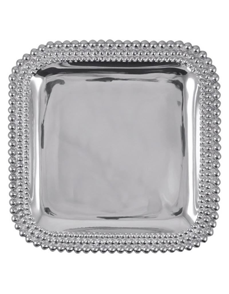 Mariposa Triple Pearls Square Platter