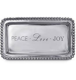 Mariposa Statement Tray - Peace Love Joy