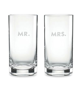 kate spade for Lenox kate spade Darling Point Hiball -  Mr. and Mrs. - Set of 2