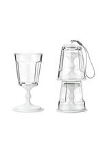 Portable Stacking Wine Glass Set/2 - White
