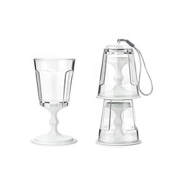 Portable Stacking Wine Glass Set/2 - White