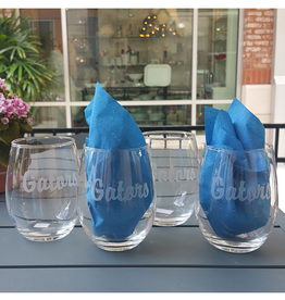 Gators Engraved Stemless Wine Glass - Set of 4