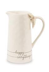 Happy Everything Ceramic Pitcher
