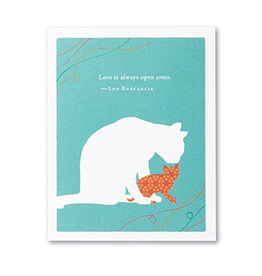 Love is always open arms Mother's Day Card
