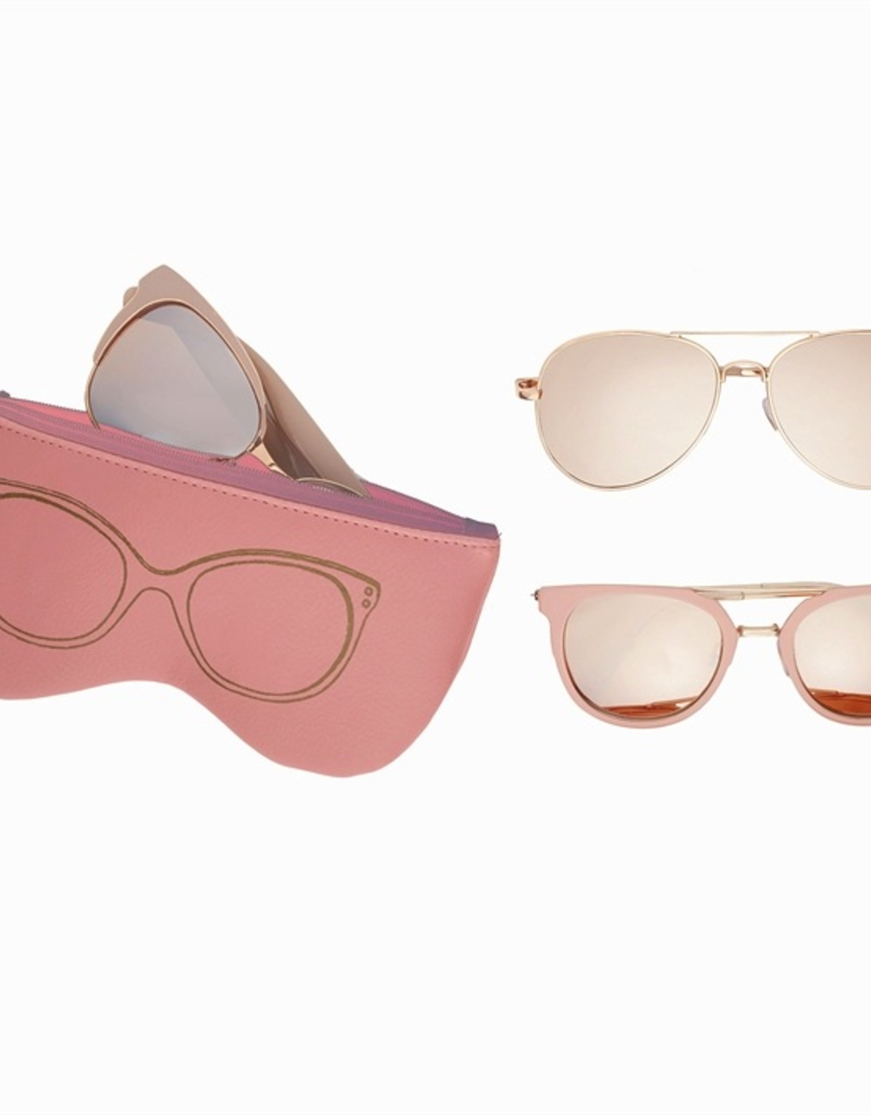 Rose Gold Sunglasses with Case - Assorted Styles