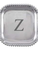 Mariposa Initial Pearled Square Platter - Z