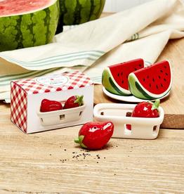 Red Strawberry Salt/Pepper Shaker Set