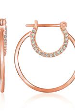 Crislu Embrace Hoop Earrings - 18k Rose Gold Finish - Small