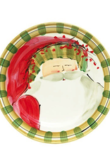 Vietri Old St. Nick Dinner Plate - Striped Hat