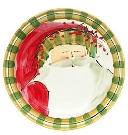 Vietri Old St. Nick Dinner Plate - Striped Hat