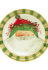 Vietri Old St. Nick Dinner Plate - Green Hat