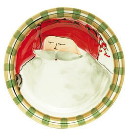 Vietri Old St. Nick Dinner Plate - Red Hat