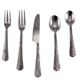 Simon Pearce Woodbury 5-Piece Flatware Setting - Graphite