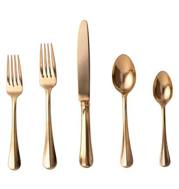Juliska Bistro Gold Flatware 5pc Setting - Discontinued