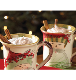 Vietri Old St. Nick Mugs - Set of 4 - Assorted