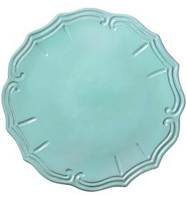 Vietri Incanto Baroque Service Plate/Charger - Aqua