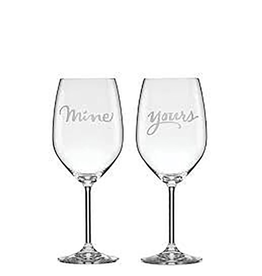 kate spade for Lenox kate spade Two of a Kind Wine Glasses - Yours and Mine Set of 2