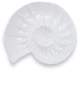 Nautilus Chip & Dip Dish Server