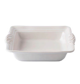 Juliska Acanthus Square Baker - Whitewash 11""