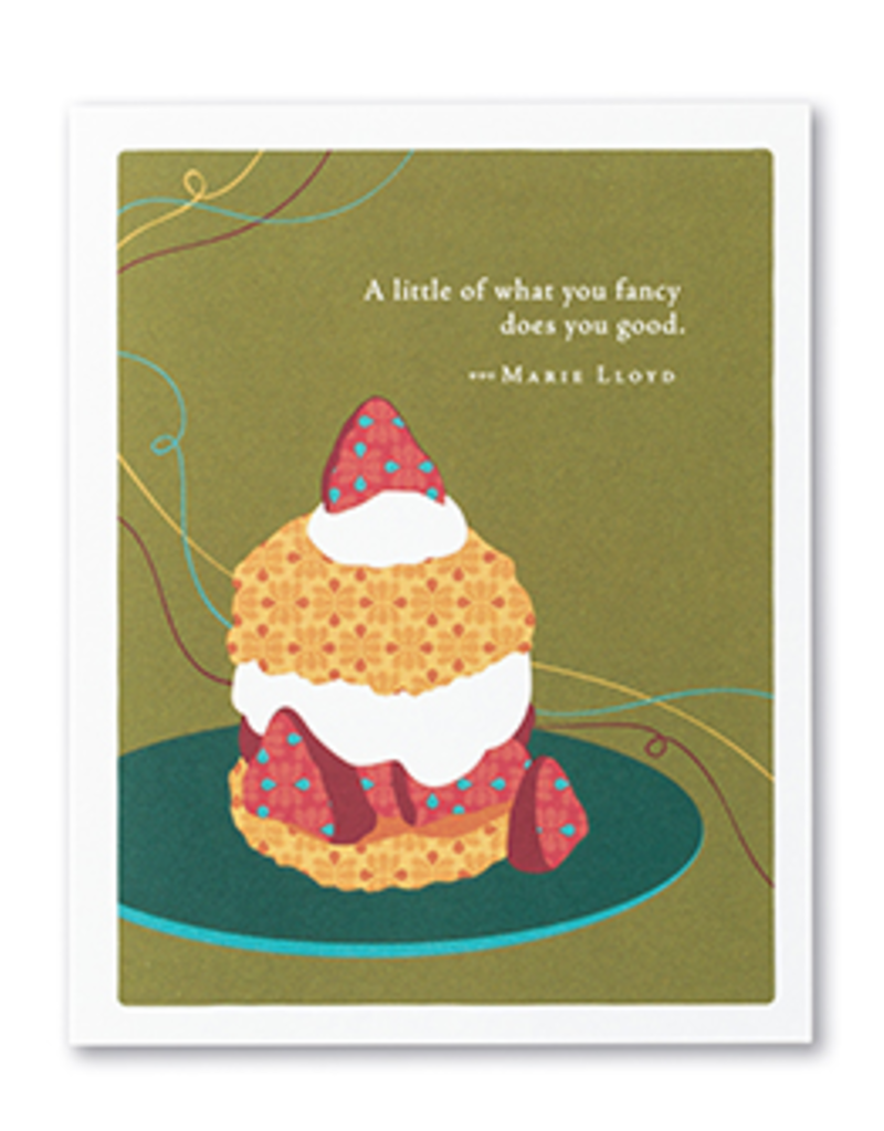 A Litte Of What You Fancy Does Good Happy Birthday Card