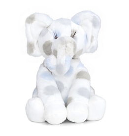 Little Giraffe Luxe Dot Plush Little Elephant - Blue