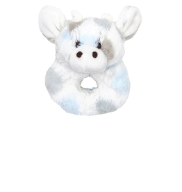 Little Giraffe Luxe Dot Plush Little Giraffe Rattle - Blue
