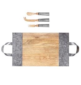 Wood & Tin Serving Board Set