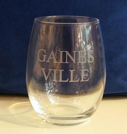 GAINES - VILLE Engraved Stemless Wine Glass - Set of 4