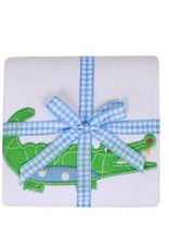 Alligator Burp Pad - Blue
