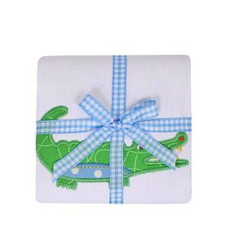 Alligator Burp Pad - Blue