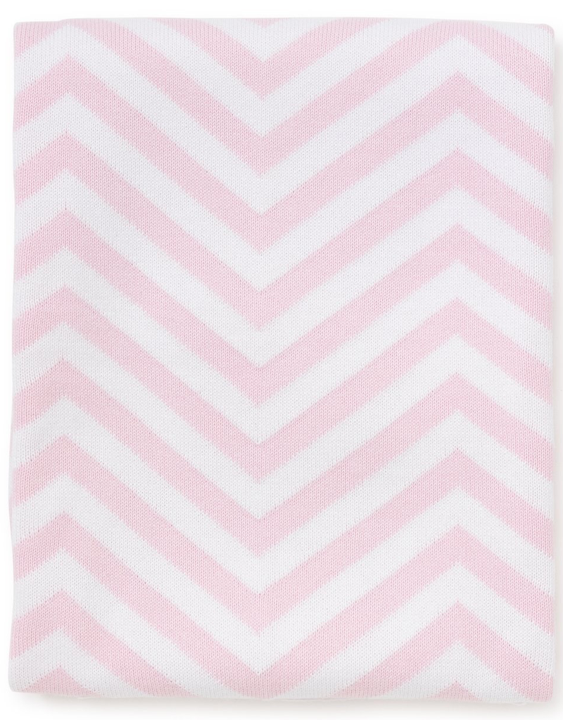 Chevron Novelty Blanket - Pink