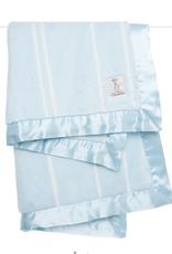 Little Giraffe Luxe Pinstripe Baby Blanket - Blue