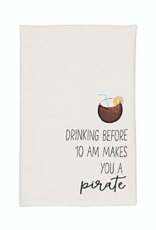 Beach Drinking Hand Towel - Before 10am