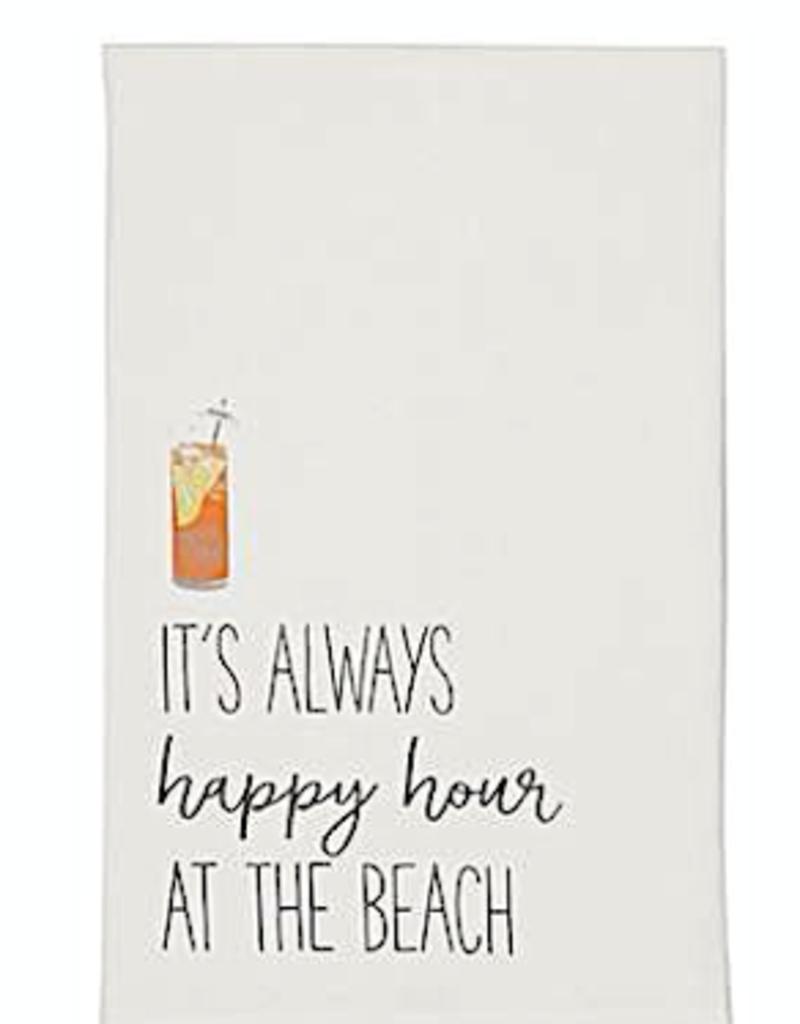 Beach Drinking Hand Towel - Always Happy