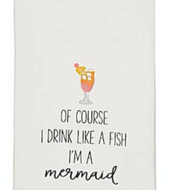 Beach Drinking Hand Towel - Of Course