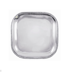 Mariposa Charms Beaded Square Platter
