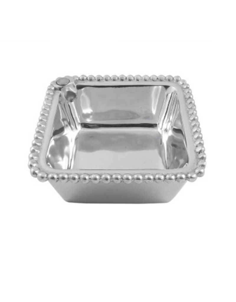 Mariposa Charms Beaded Square Bowl