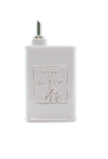 Vietri Lastra Olive Oil Can - Light Gray