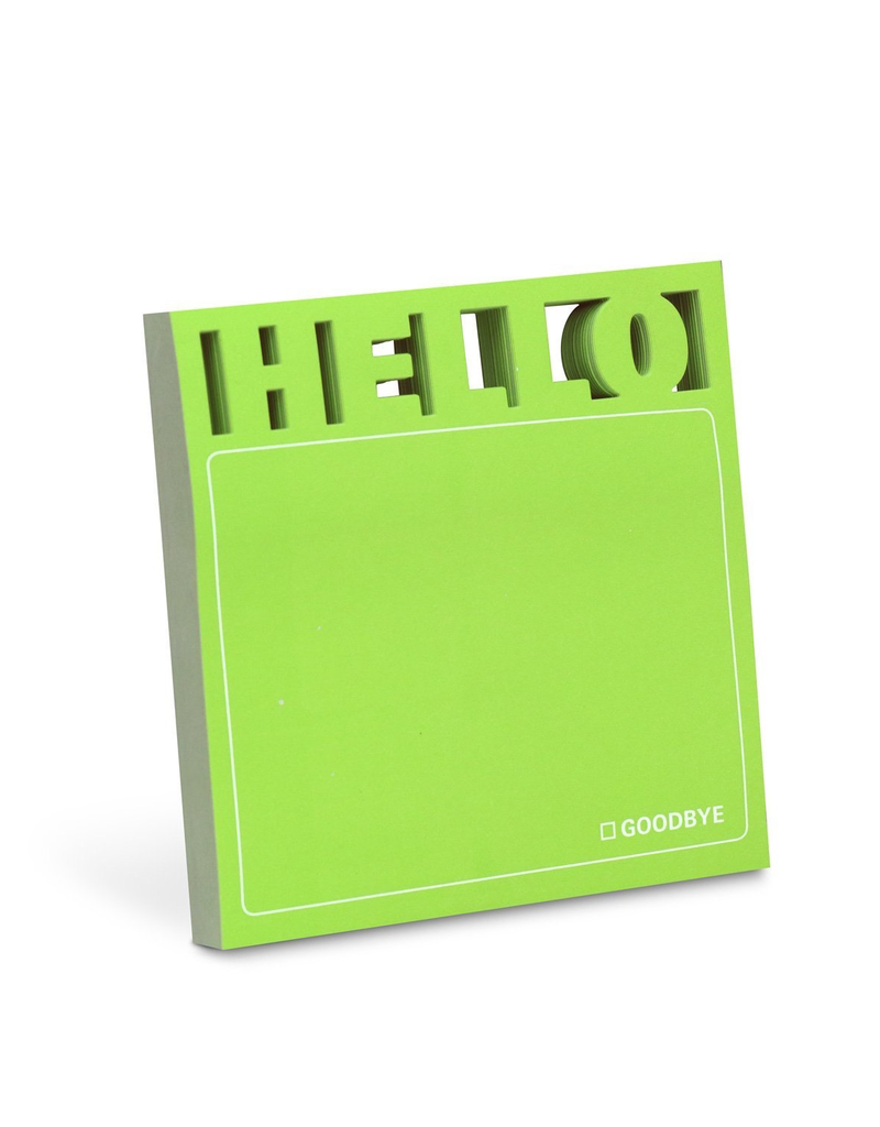 Hello Diecut Sticky Notes