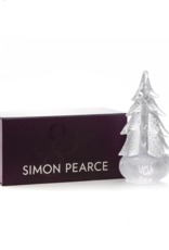 Simon Pearce Silver Leaf Evergreen Tree In Gift Box - 14""