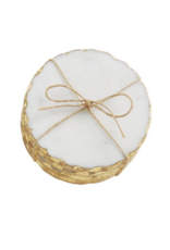 Foiled Marble Coaster Set - Gold
