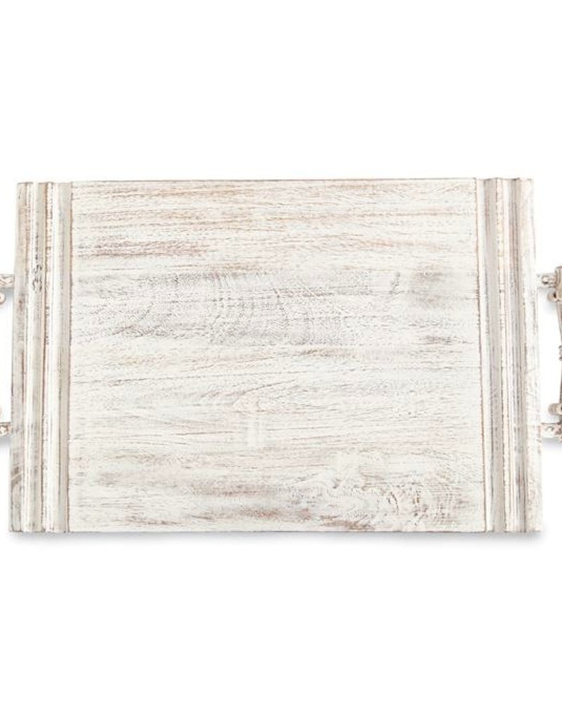 Beaded Serving Board - Whitewash