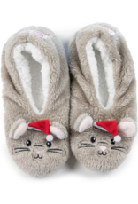 Night Before Christmas Mouse Footsies - Large (9-10)