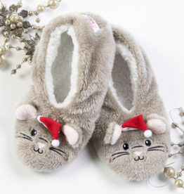 Night Before Christmas Mouse Footsies - X-Large (10+)
