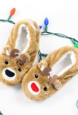 Oh, Deer Reindeer Footsies - Large (9-10)