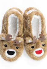 Oh, Deer Reindeer Footsies - Small (5-6)