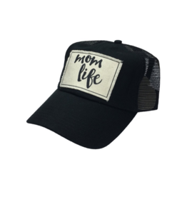 Mom Life Black Women's Trucker Hat