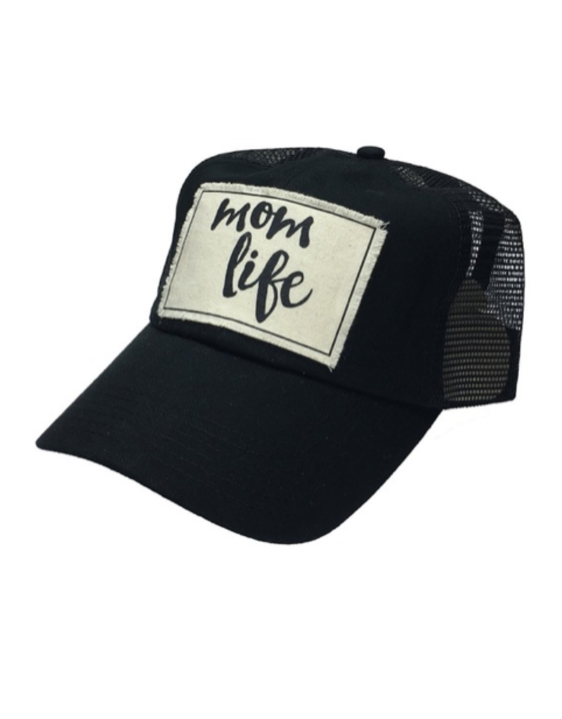 Mom Life - Black Women's Trucker dl Hat