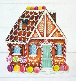 Die Cut Gingerbread House Placemat - 12 Sheets