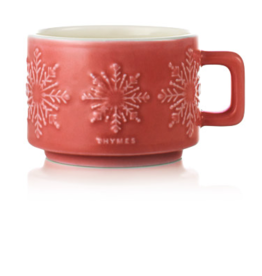Thymes Hot Cocoa Dark Chocolate Mug Candle - Small